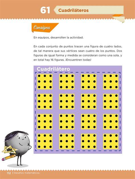 de tu libro desafos matemticos pagina 113 a con cul de desaf 237 os matem 225 ticos libro para el alumno cuarto grado