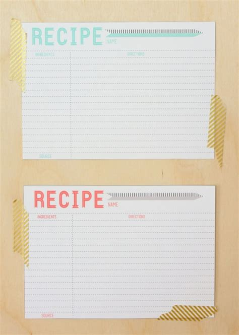 recipe card templates 10 printable recipe card templates free tip junkie