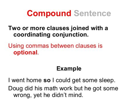 sentence template compound complex and simple sentences worksheets