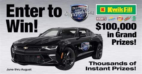Pick Your Dream Car Instant Win Codes - kwik fill driving america sweepstakes 2017 winzily
