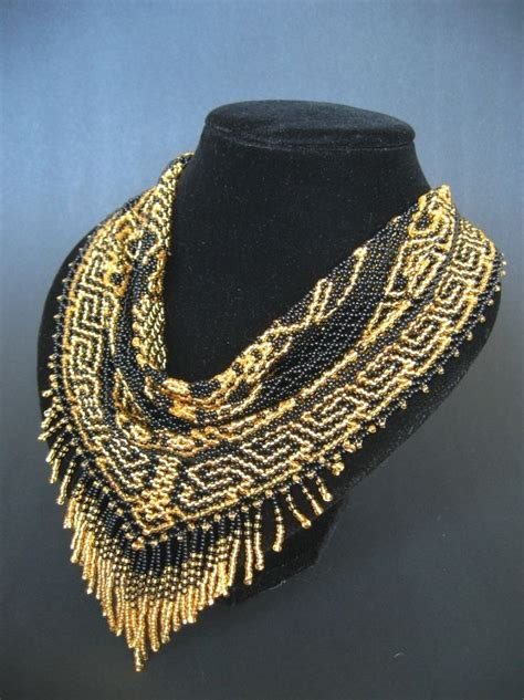 scarf necklace beaded 17 best images about beaded scarf on seed bead