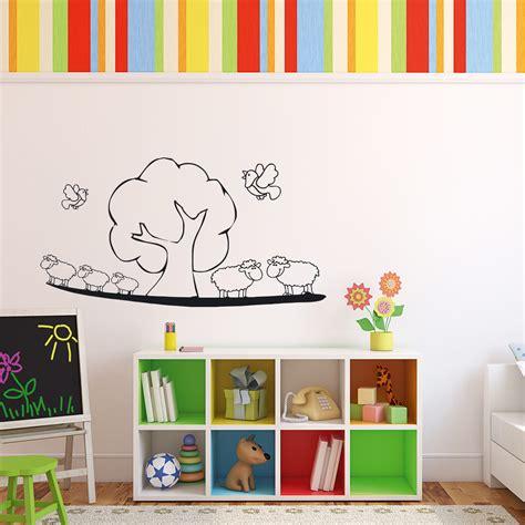 Wandtattoo Kinderzimmer Schafe by Schaf Landschaftf 252 R Wohnzimmer Kinderzimmer Wandtattoo