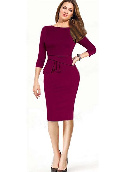 Skirted Dresses by Tomcarry S Half Sleeves Slim Bodycon Pencil Skirt