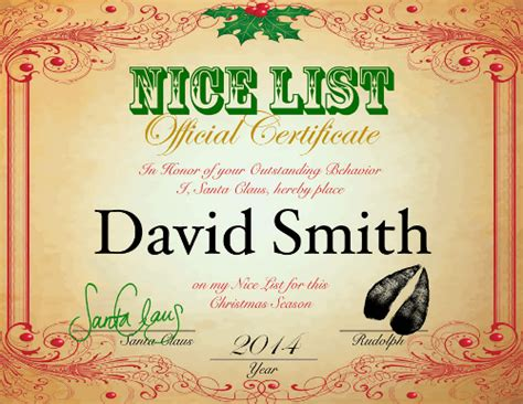 printable santa nice list 2014 santa will write review and giveaway from abcs to acts