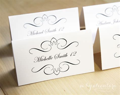 place card template for word printable place card template instant