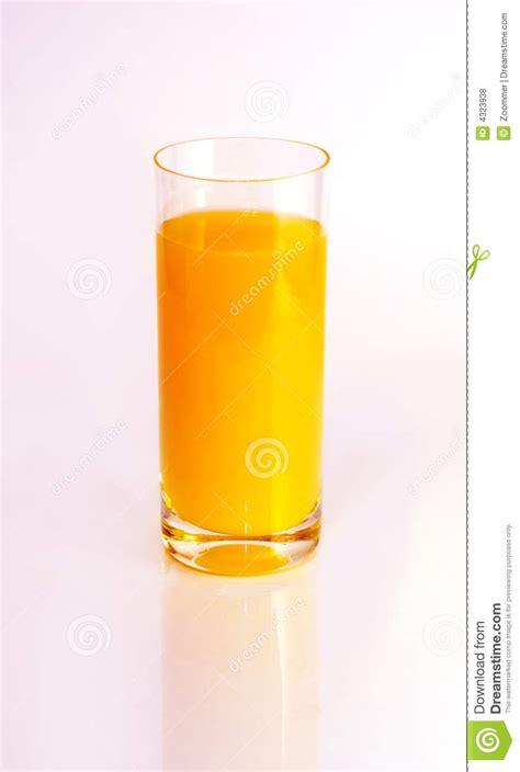 background juice glass of orange juice on white background stock photo