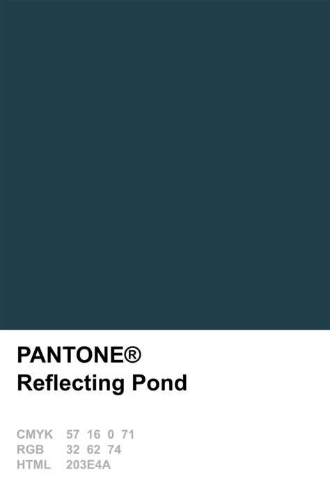 pantone  reflecting pond color pinterest pantone