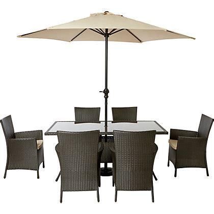 Garden Furniture Homebase Panama 6 Seater Rattan Effect Garden Furniture Set