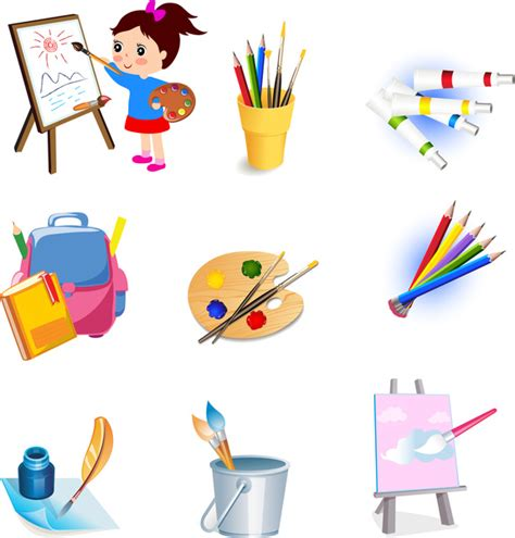 free online drawing tools drawing tools icons set free vector in adobe illustrator