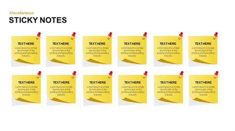 Keynote Notes post it notes powerpoint and keynote template slidebazaar
