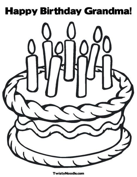 coloring pages that say happy birthday happy birthday grandma coloring page from twistynoodle com