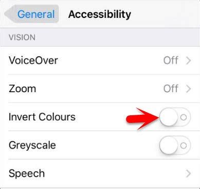 how to turn on invert colors how to invert ios devices screen colors wikigain