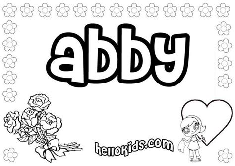Abby Coloring Pages Hellokids Com Abby Coloring Pages
