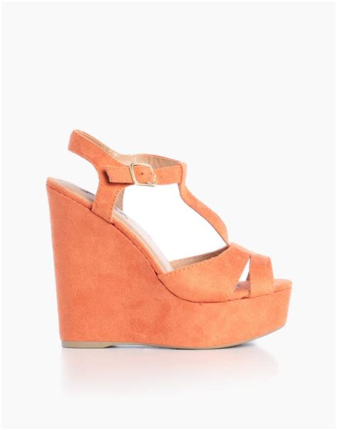 Orange Wedges By C Boutique 30 best images about platform shoes on
