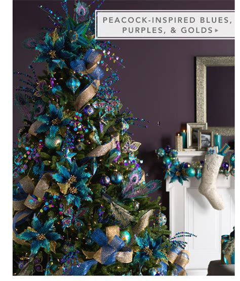 peacock inspired blues purples and golds for the