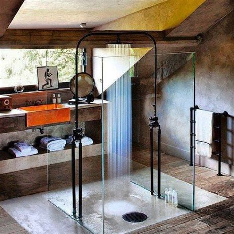 rustic shower interior design ideas