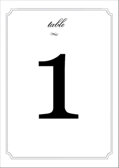 Wedding Table Numbers Label Templates Eu30033 Online Labels Number Labels Template