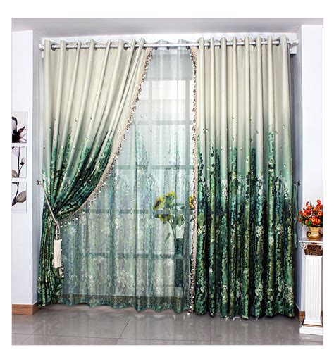 Green Sheer Curtains Free Shipping Bed Living Room Ready Made Classical Green Curtain 1 Lot Includes 1m Cloth