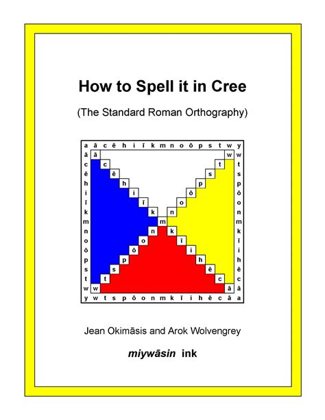 how to spell house how to spell it in cree okimāsis wolvengrey cree literacy network