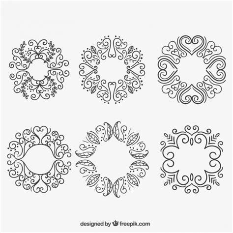cornici floreali gratis cornici floreali in stile disegnato a mano scaricare