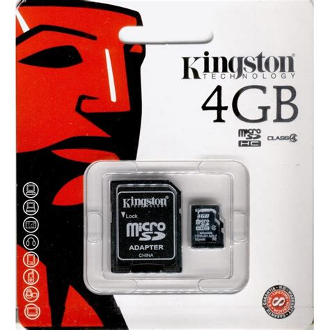 Micro Sd Kingston kingston microsdhc 4gb