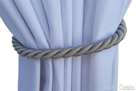 curtain cord silver window decor curtain drapery 36 quot long thick rope