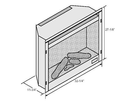 fireplace insert dimensions 564 electric insert fireplace xtrordinair