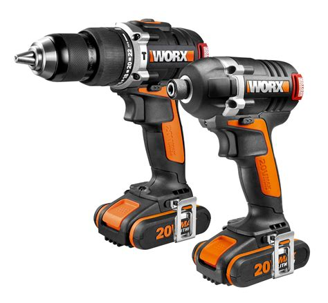 better worx worx 20v 2 0ah combo kit wx918 brushless motor drill