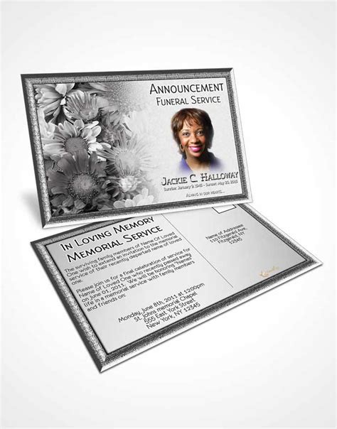dye funeral memorial card template bifold order of service obituary template brochure black