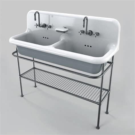 vasche da bagno da appoggio lavabo in ceramica a due vasche da appoggio su struttura