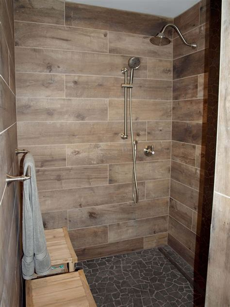 bathroom flooring ideas people commonly use design and best 25 wood tile shower ideas on pinterest