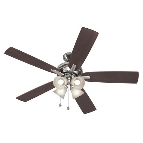 ceiling fan downrod lowes harbor 52 in brushed nickel downrod ceiling fan