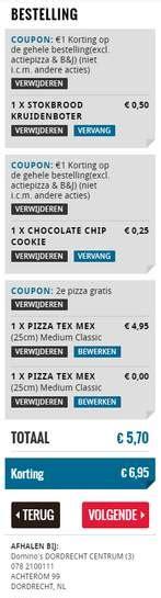 dominos coupon codes krijg  korting juni