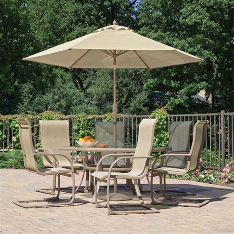 Furniture Design Ideas Stylish Patio Furniture With Patio Table And Umbrella
