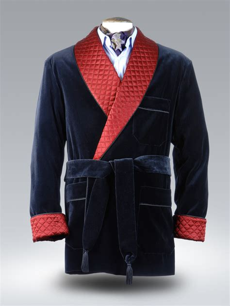 Mens Quilted Dressing Gown by Black Velvet Burgundy Quilted Silk Dressing Gown Matthewcookson