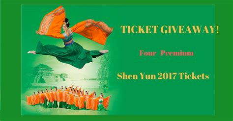Ticket Giveaway Contest - shen yun premium ticket giveaway contest