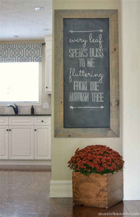 chalkboard kitchen wall ideas fall chalkboard a burst of beautiful