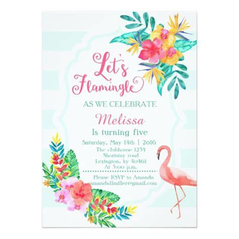 Let S Flamingle Flamingo Invitation Zazzle Co Uk Flamingo Invitation Template Free