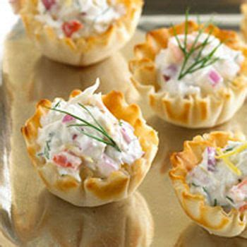 printable appetizer recipes crab appetizer phyllo cups and crabs on pinterest