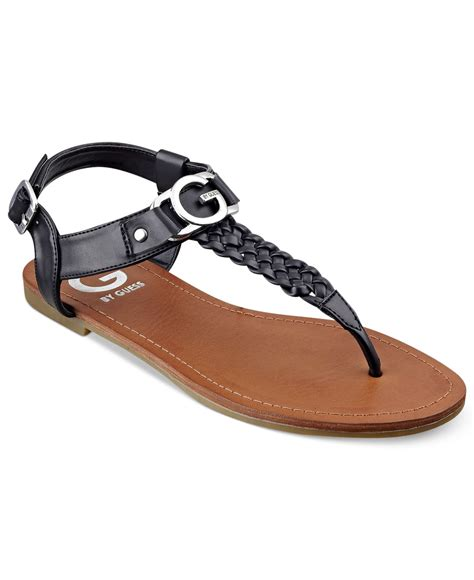 sandals guess g by guess s lyrikk flat sandals in black lyst