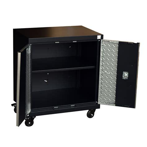 rolling metal storage cabinet homcom metal rolling tool storage cabinet silver black