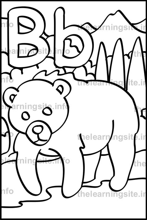 b bear coloring page 9 best images of worksheets bird info bird body parts