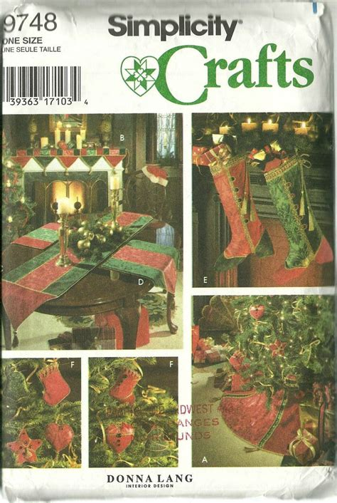 christmas home decor crafts simplicity sewing pattern 9748 christmas holiday home