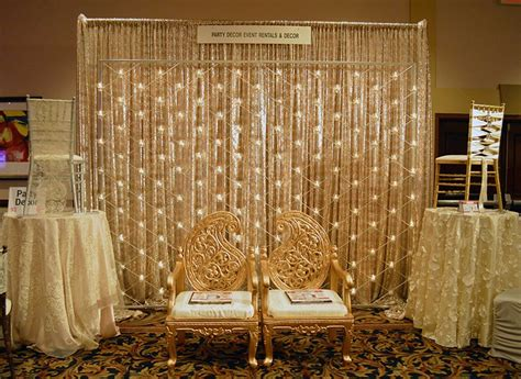 design backdrop booth party decor at the today s bride bridal show best bridal