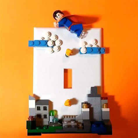 lego superhero bedroom superman lego switchplate
