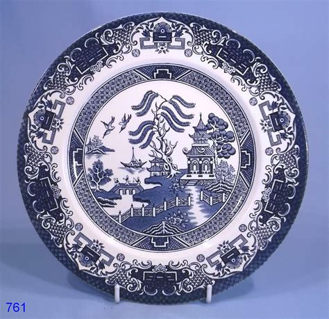 plate patterns english ironstone willow pattern dinner plate sold