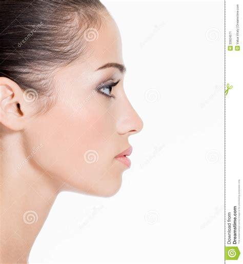 fotos para perfil de jovenes cara del perfil de una mujer joven imagen de archivo