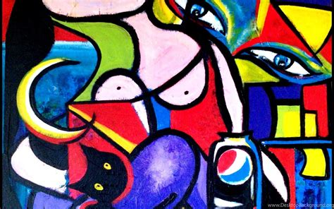 abstract art  pablo picasso wallpaper desktop background
