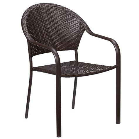 Stackable Wicker Patio Chairs Hton Bay Mix And Match Stackable Wicker Outdoor Dining
