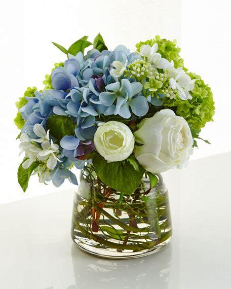 Faux Floral Centerpieces Ndi Hydrangea Faux Floral Arrangement Neiman